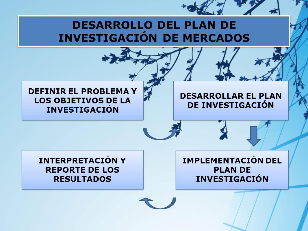 DESARROLLO DEL PLAN DE INVESTIGACIÓN DE MERCADOS