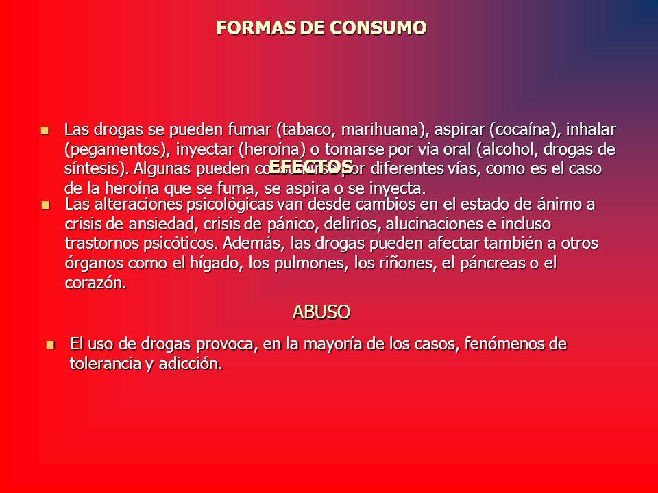 FORMAS DE CONSUMO EFECTOS