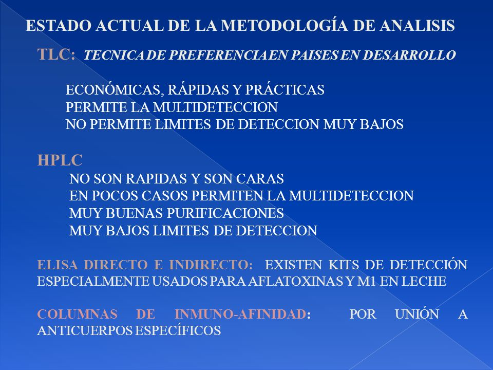 ESTADO ACTUAL DE LA METODOLOGÍA DE ANALISIS