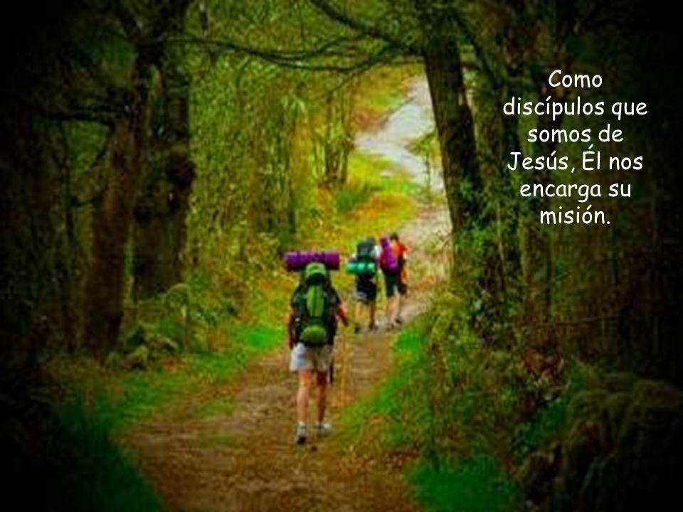 Como discípulos que somos de Jesús, Él nos encarga su misión.