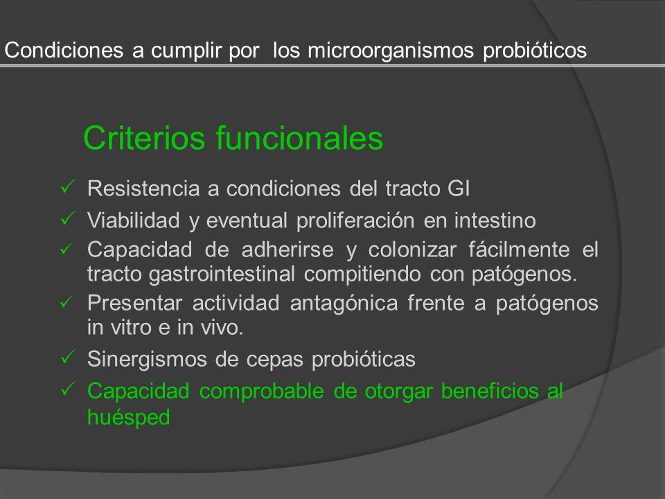 Criterios funcionales