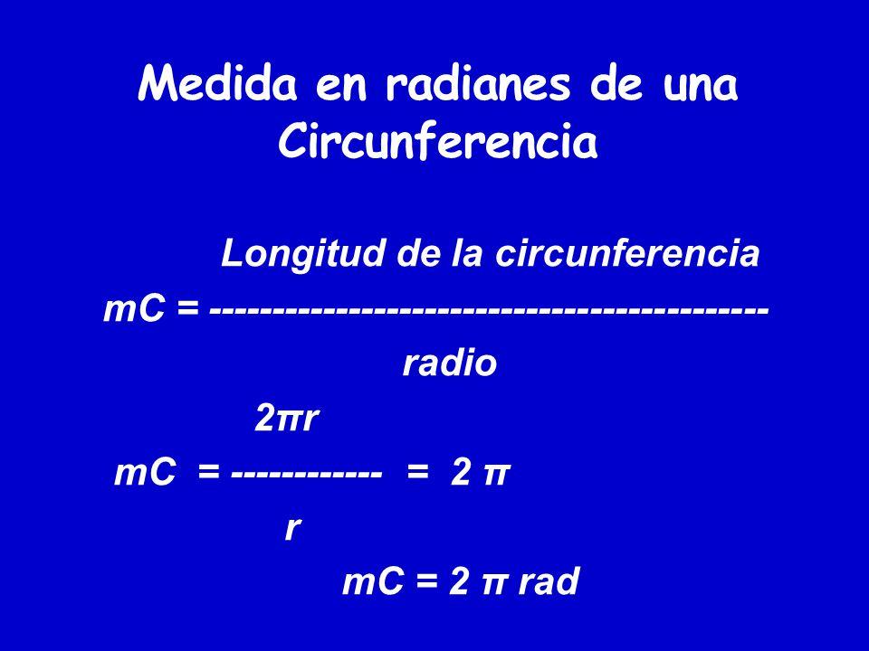 Medida en radianes de una Circunferencia