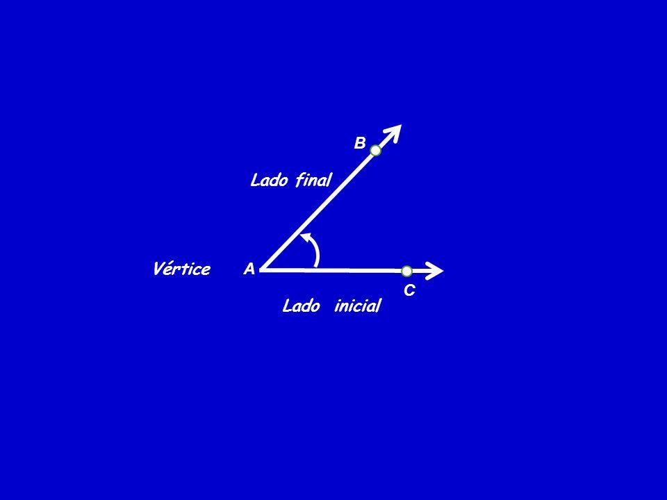 B Lado final Vértice A C Lado inicial