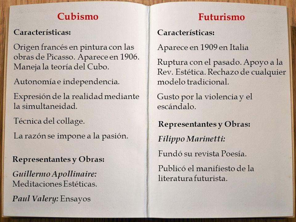 Cubismo Futurismo Características: Características: