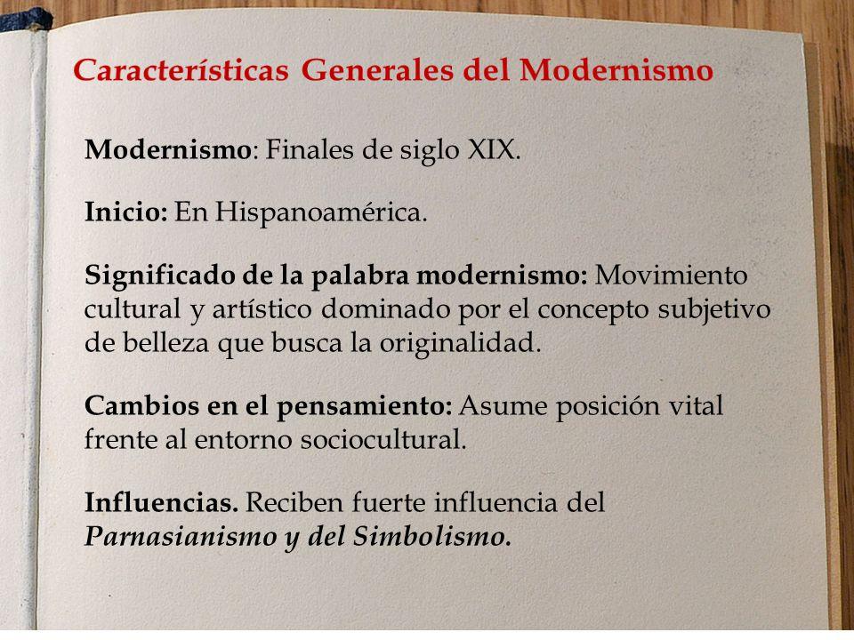 Características Generales del Modernismo