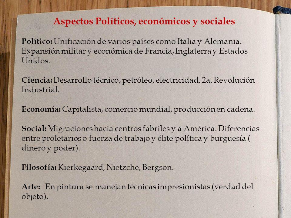 Aspectos Políticos, económicos y sociales