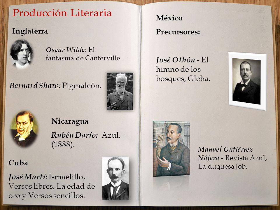 Producción Literaria México Precursores: Inglaterra