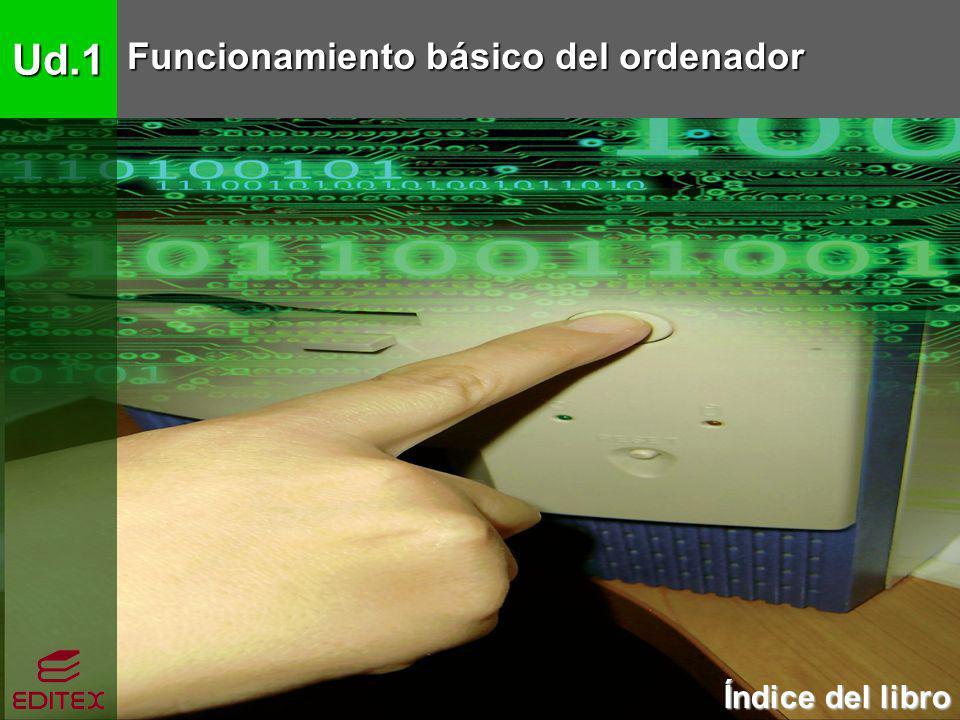 Ud.1 Funcionamiento básico del ordenador Índice del libro