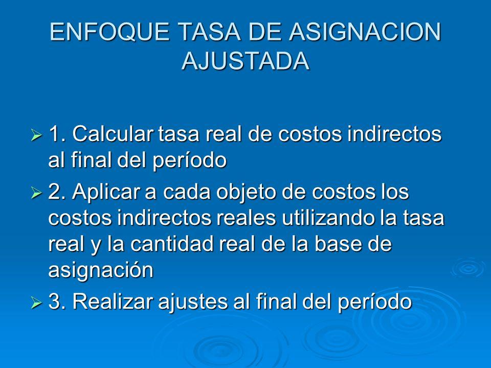 ENFOQUE TASA DE ASIGNACION AJUSTADA