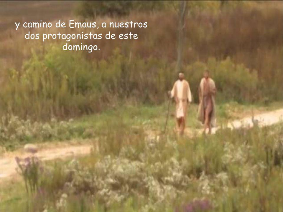 y camino de Emaus, a nuestros dos protagonistas de este domingo.