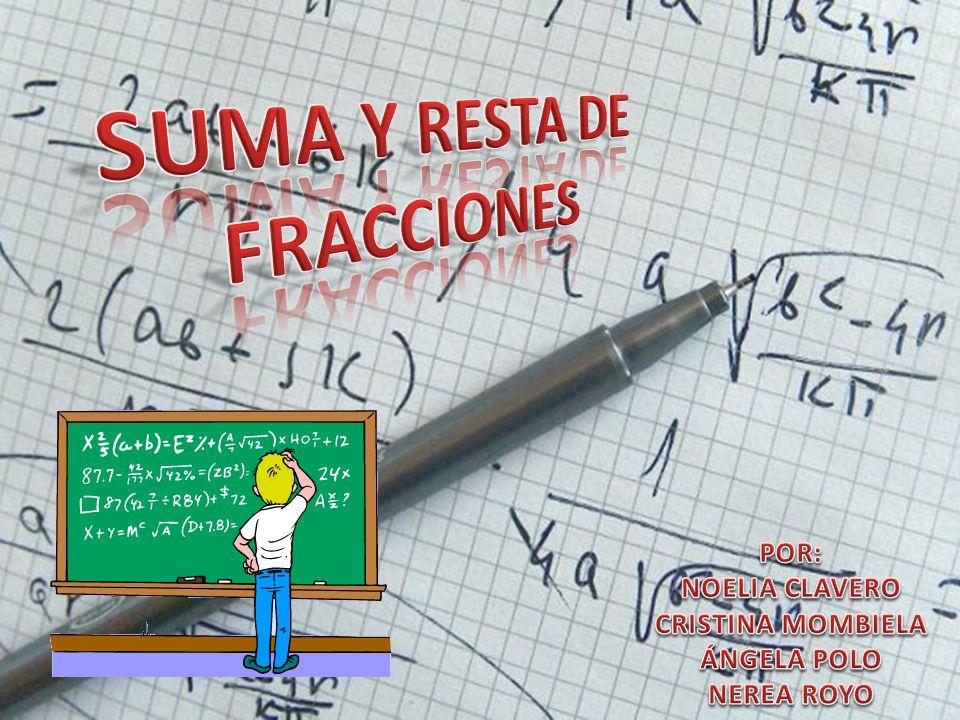 SUMA Y RESTA DE FRACCIONES