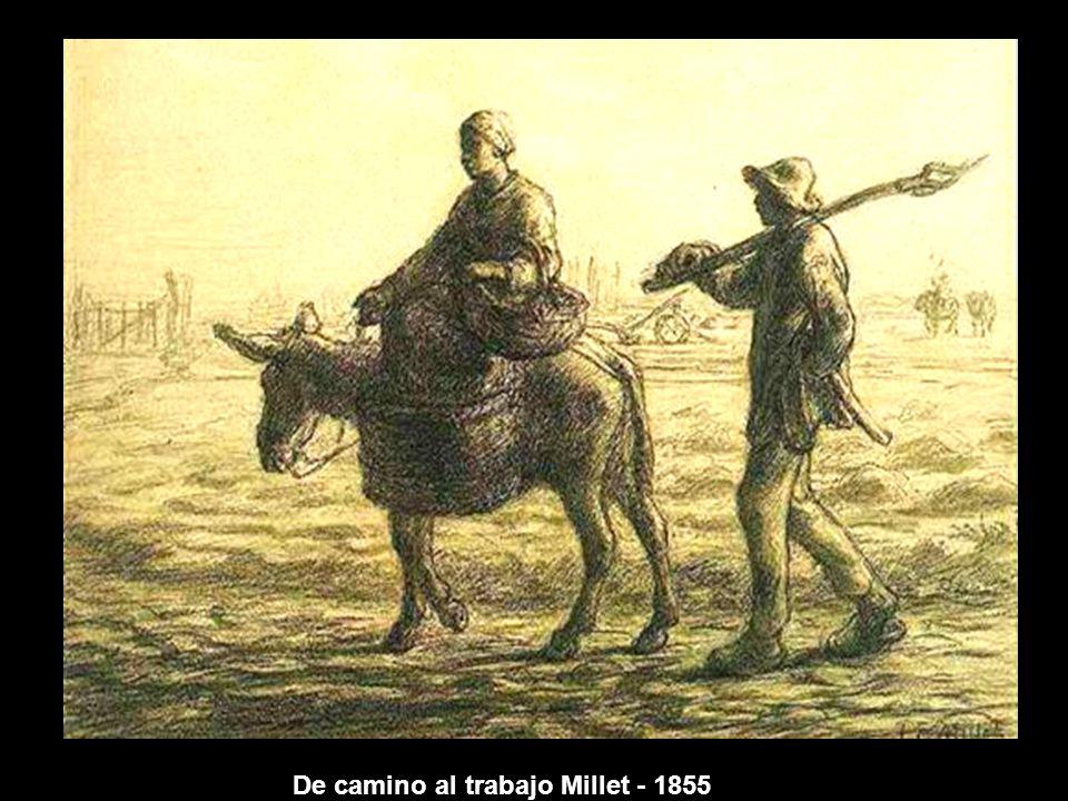 De camino al trabajo Millet - 1855