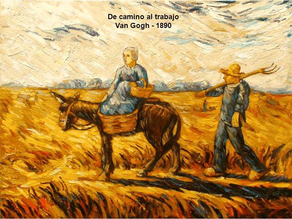 De camino al trabajo Van Gogh - 1890