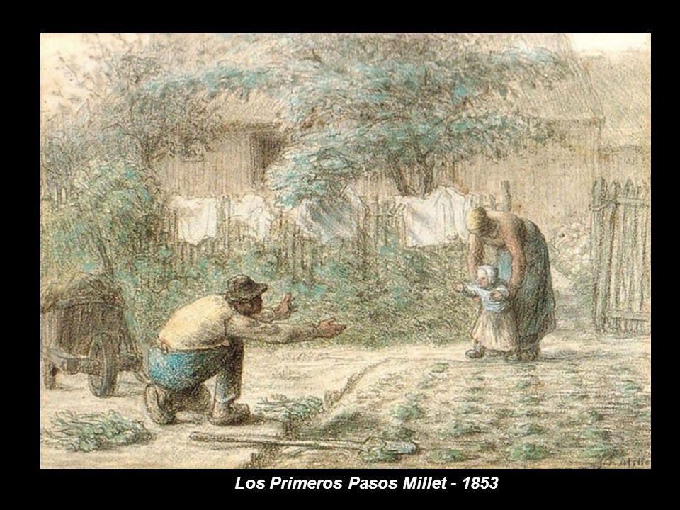 Los Primeros Pasos Millet - 1853
