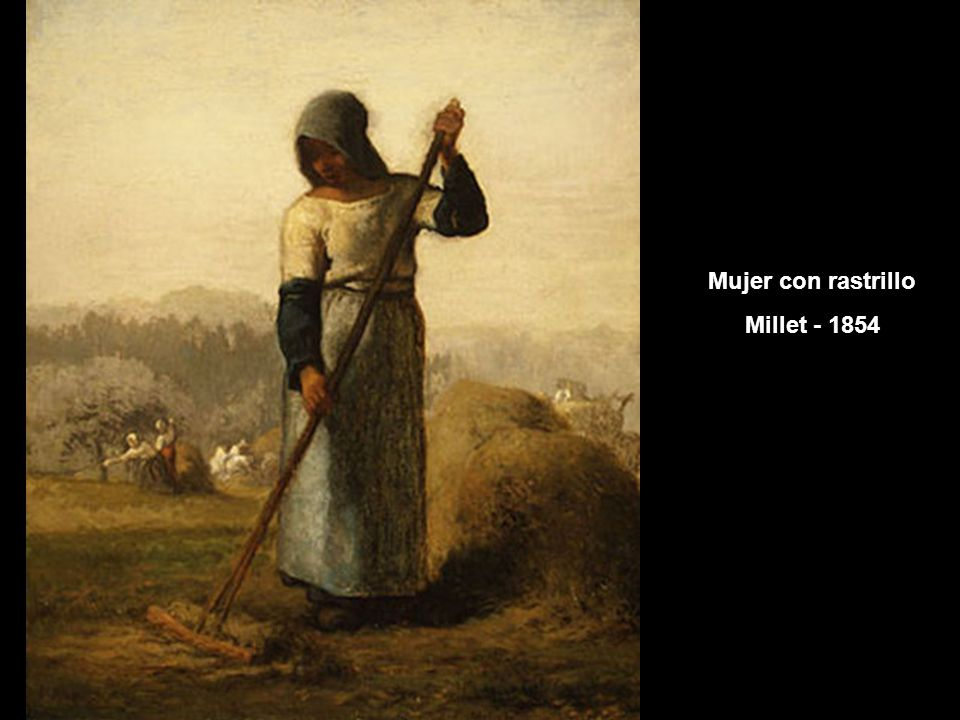 Mujer con rastrillo Millet - 1854