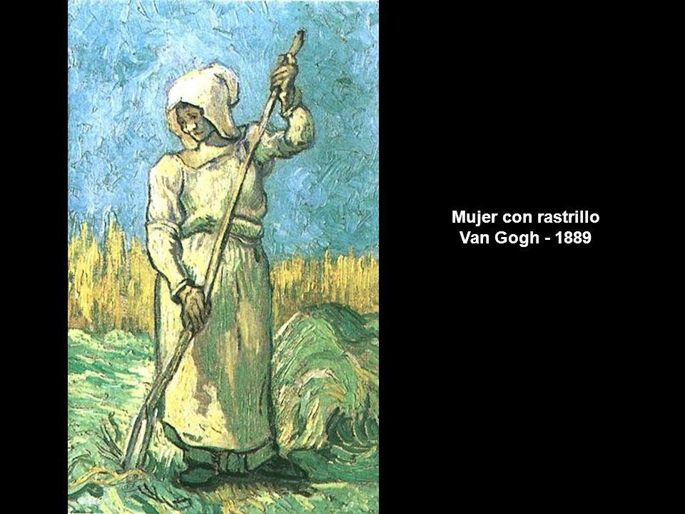 Mujer con rastrillo Van Gogh - 1889