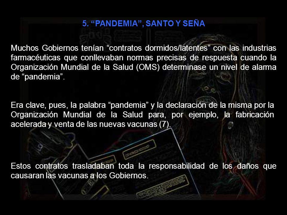 5. PANDEMIA , SANTO Y SEÑA