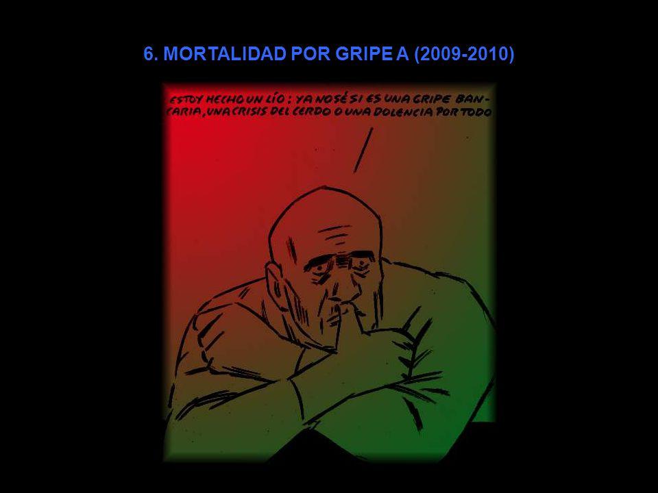 6. MORTALIDAD POR GRIPE A (2009-2010)