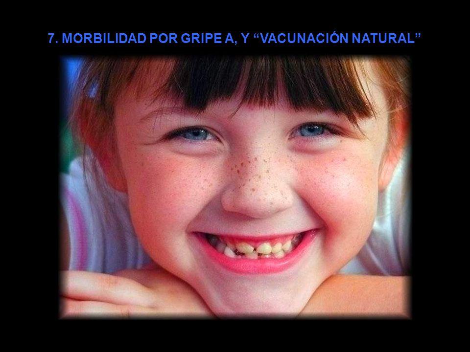 7. MORBILIDAD POR GRIPE A, Y VACUNACIÓN NATURAL