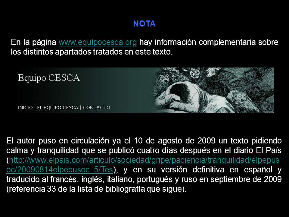NOTA En la página www.equipocesca.org hay información complementaria sobre los distintos apartados tratados en este texto.