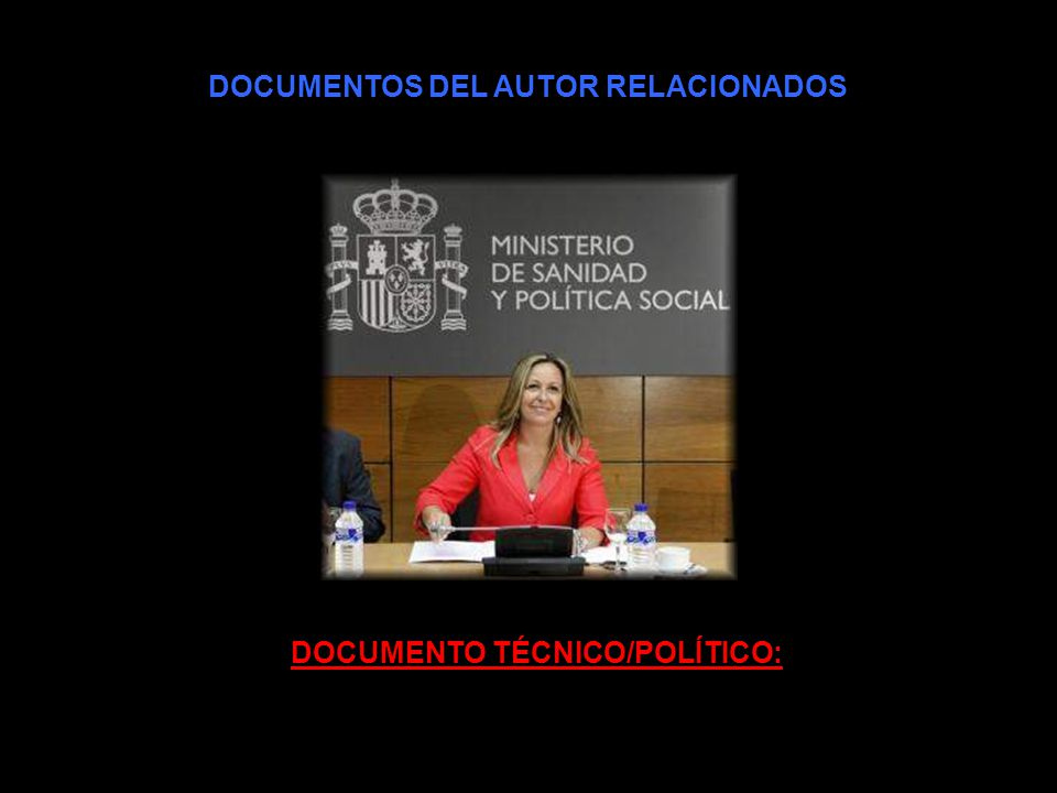 DOCUMENTOS DEL AUTOR RELACIONADOS DOCUMENTO TÉCNICO/POLÍTICO: