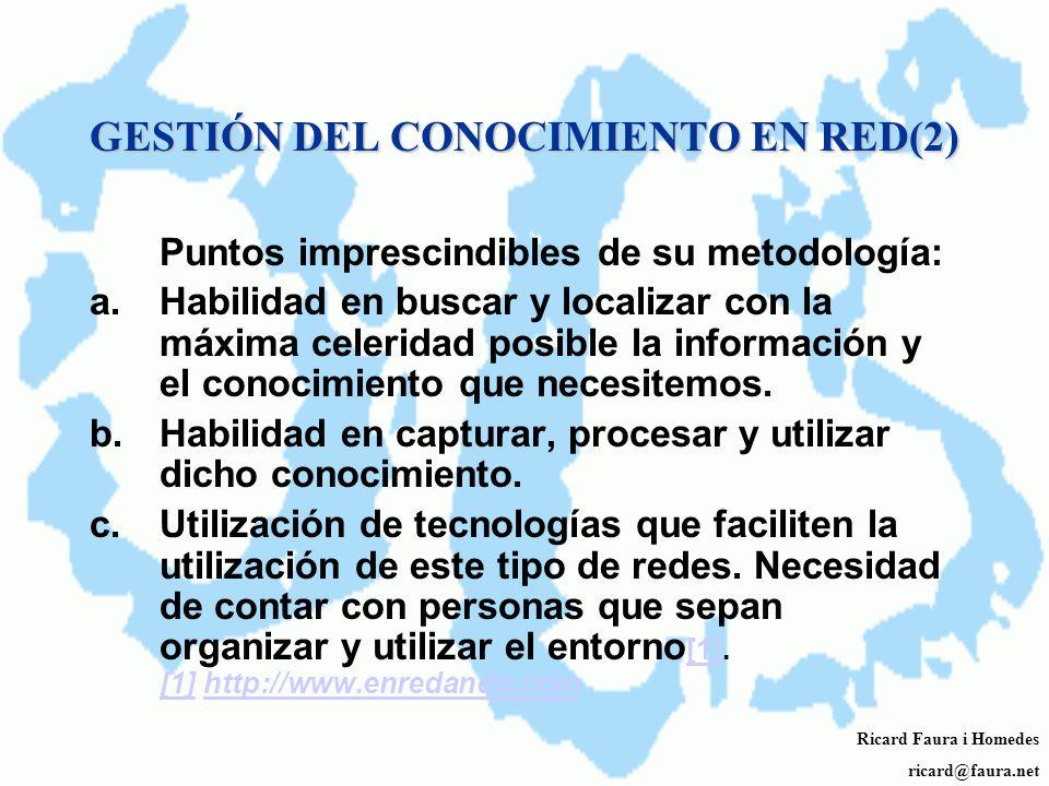 GESTIÓN DEL CONOCIMIENTO EN RED(2)