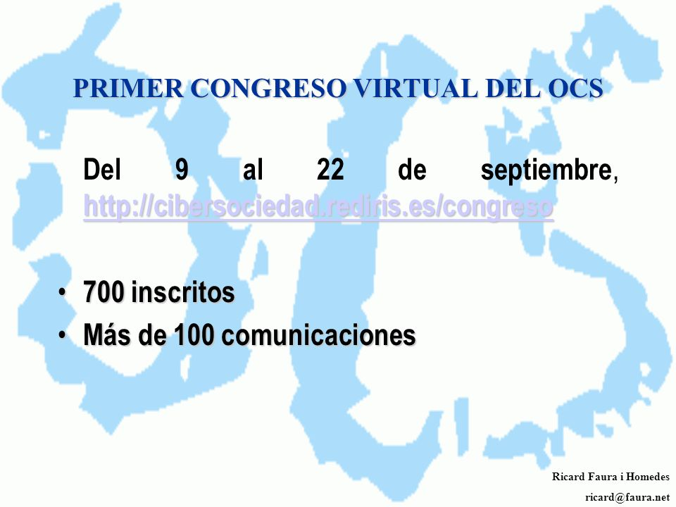 PRIMER CONGRESO VIRTUAL DEL OCS