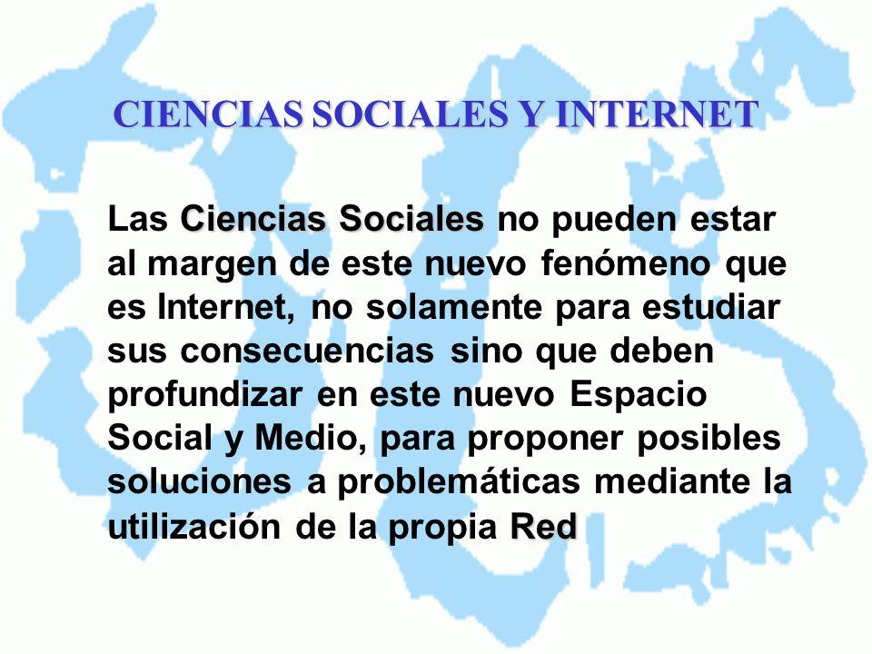 CIENCIAS SOCIALES Y INTERNET