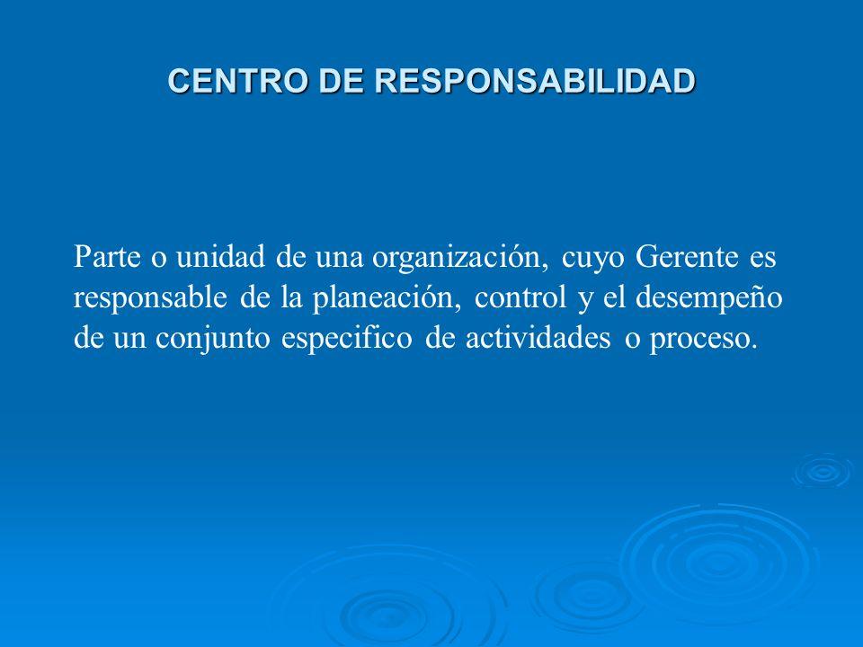CENTRO DE RESPONSABILIDAD