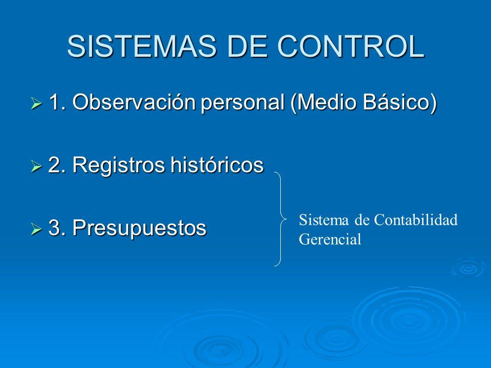 SISTEMAS DE CONTROL 1. Observación personal (Medio Básico)
