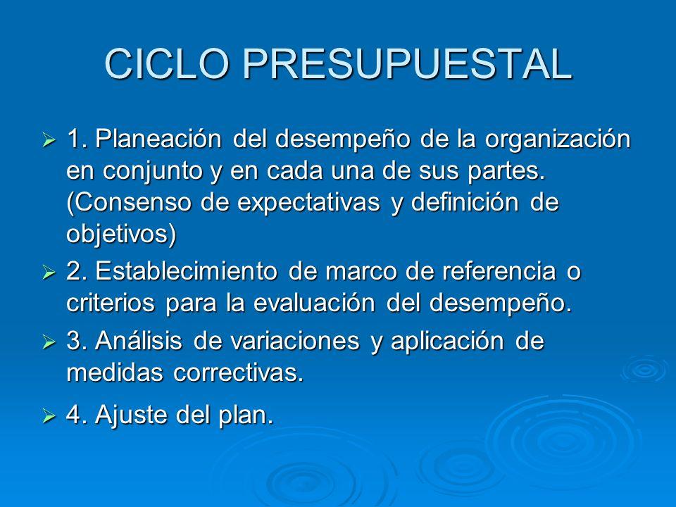 CICLO PRESUPUESTAL