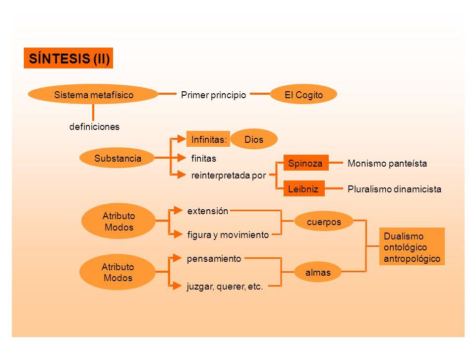 SÍNTESIS (II) Sistema metafísico Primer principio El Cogito