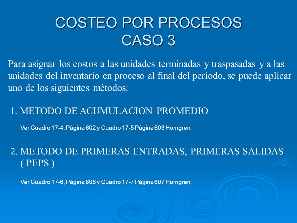COSTEO POR PROCESOS CASO 3