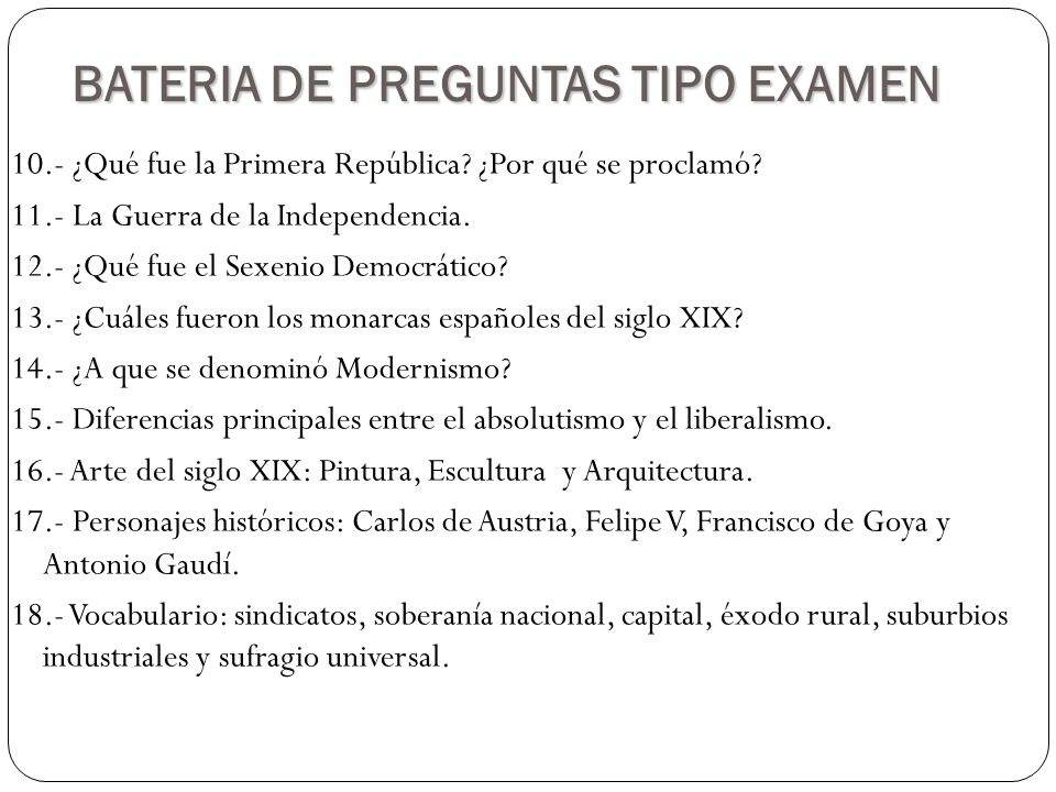 BATERIA DE PREGUNTAS TIPO EXAMEN