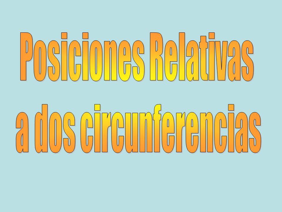 Posiciones Relativas a dos circunferencias