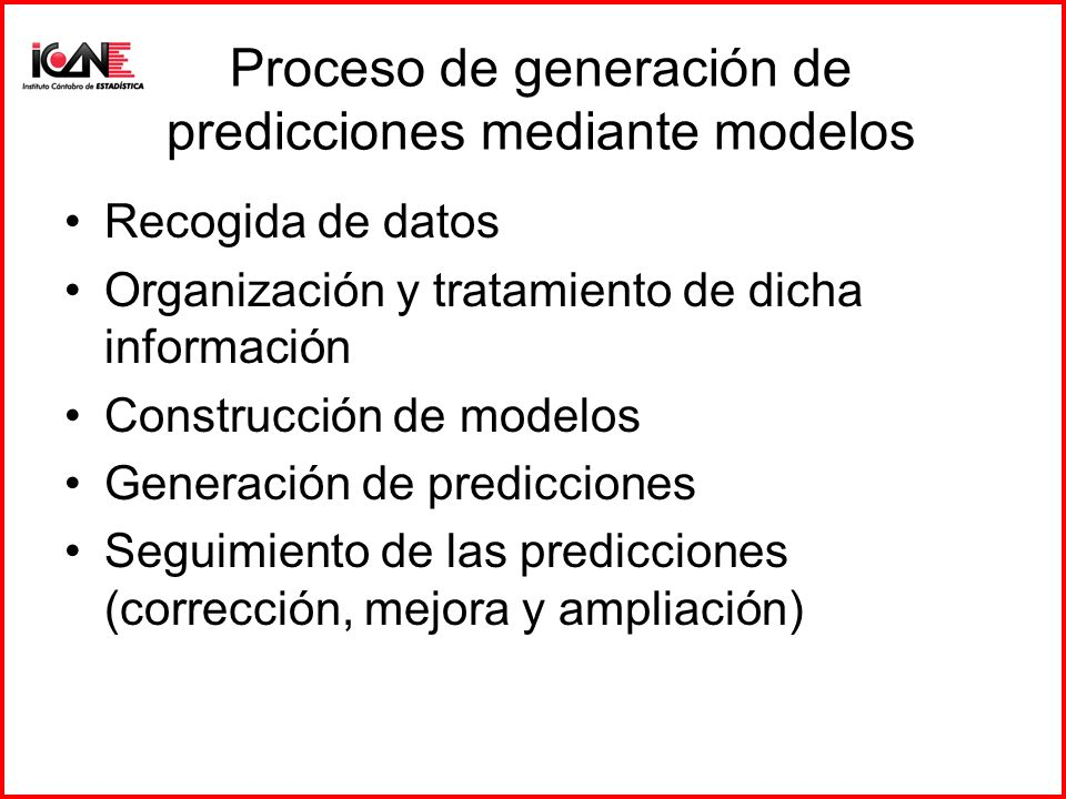 Proceso de generación de predicciones mediante modelos