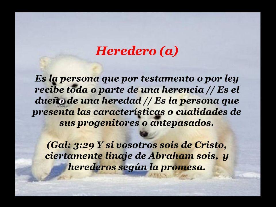 Heredero (a)
