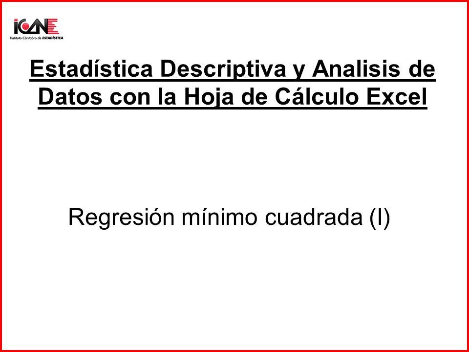 Regresión mínimo cuadrada (I)