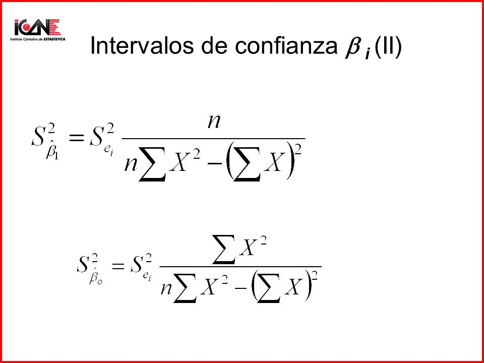Intervalos de confianza  i (II)