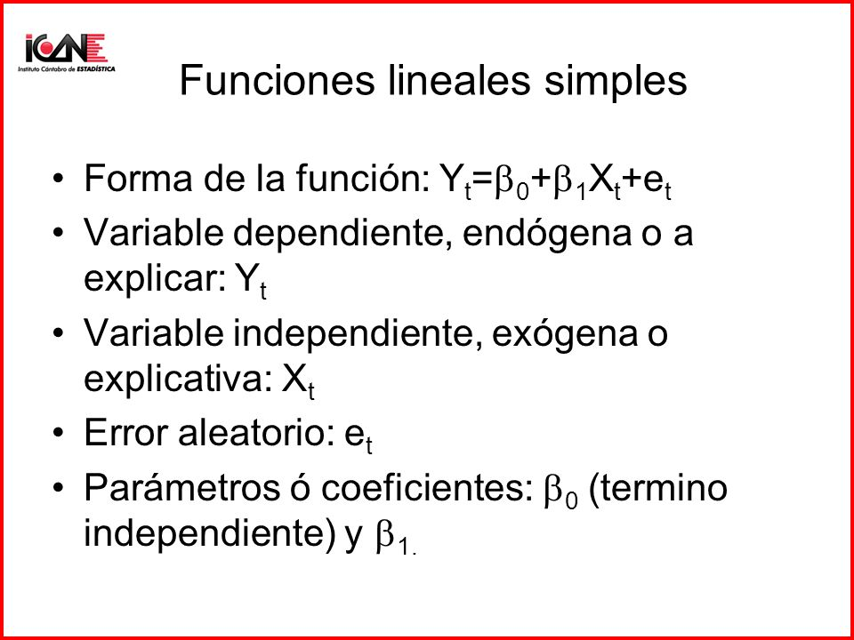 Funciones lineales simples