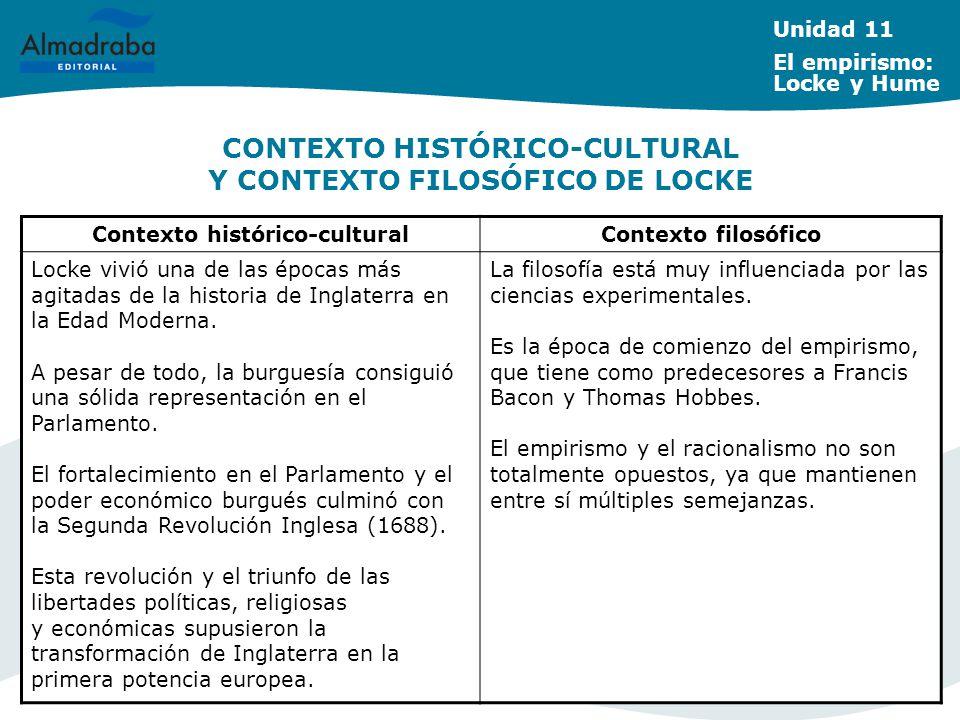 CONTEXTO HISTÓRICO-CULTURAL Y CONTEXTO FILOSÓFICO DE LOCKE