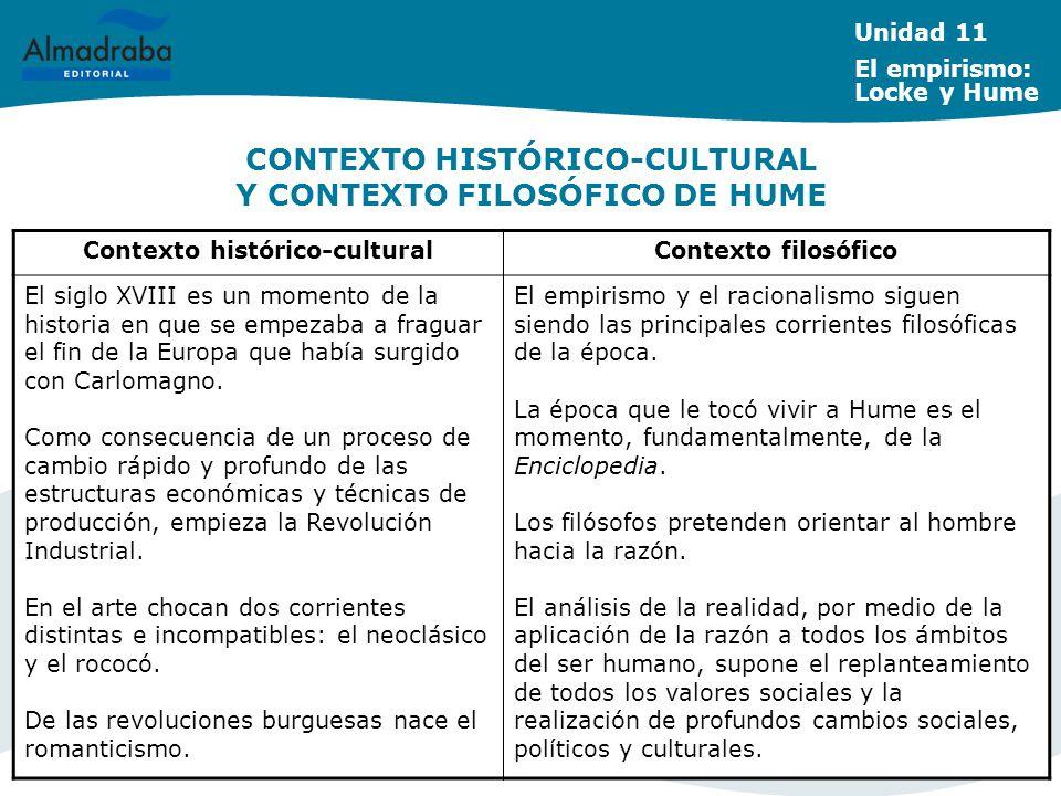 CONTEXTO HISTÓRICO-CULTURAL Y CONTEXTO FILOSÓFICO DE HUME