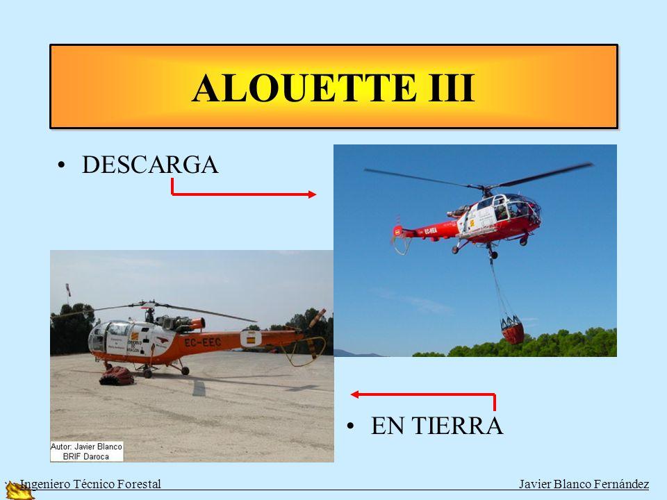ALOUETTE III DESCARGA EN TIERRA