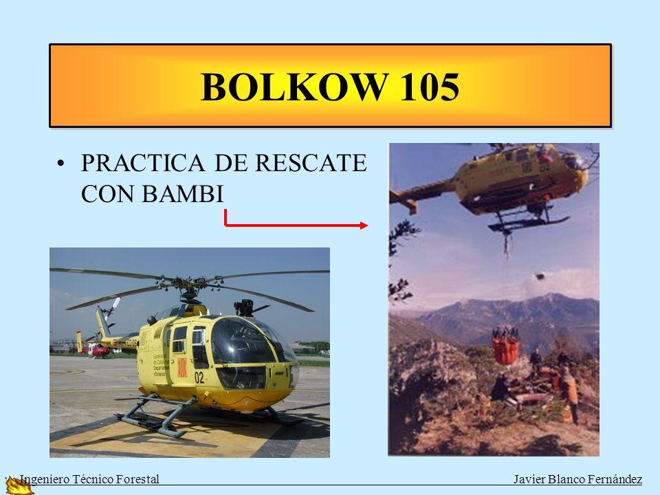 BOLKOW 105 PRACTICA DE RESCATE CON BAMBI