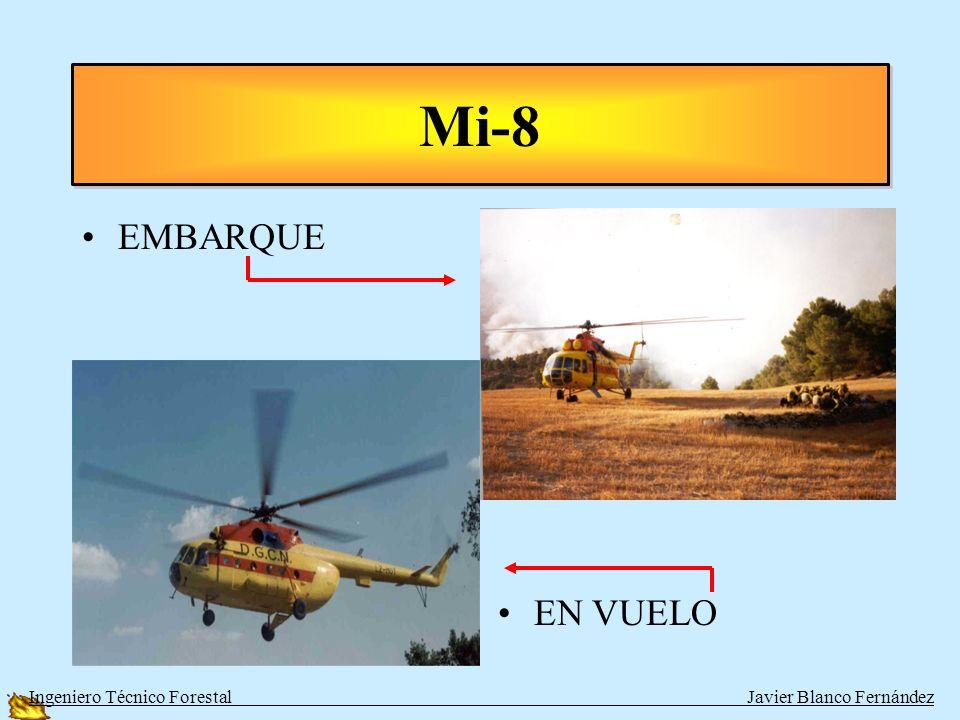 Mi-8 EMBARQUE EN VUELO Ingeniero Técnico Forestal Javier Blanco Fernández