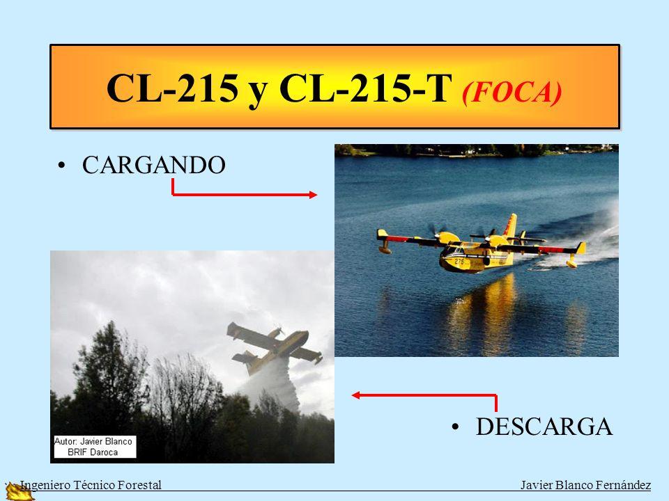 CL-215 y CL-215-T (FOCA) CARGANDO DESCARGA