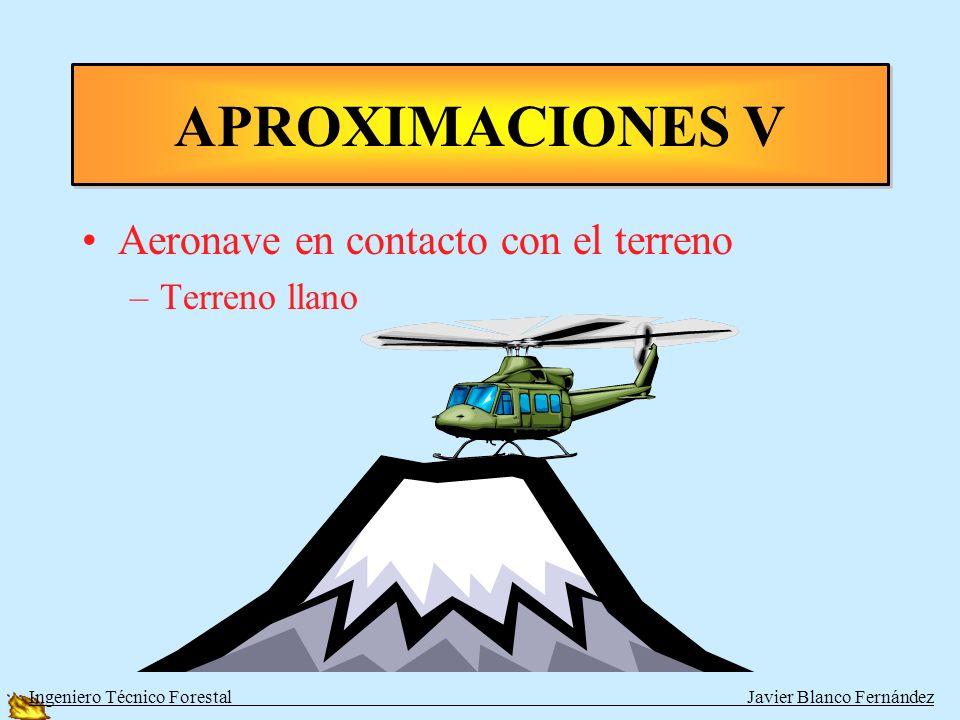 APROXIMACIONES V Aeronave en contacto con el terreno Terreno llano