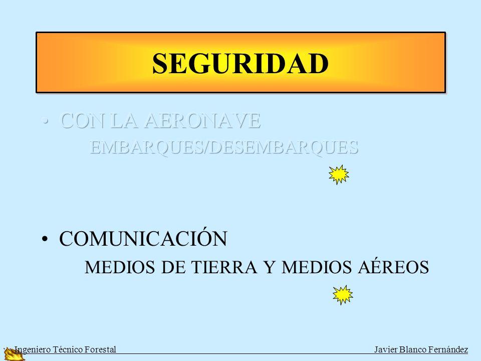 SEGURIDAD CON LA AERONAVE EMBARQUES/DESEMBARQUES COMUNICACIÓN