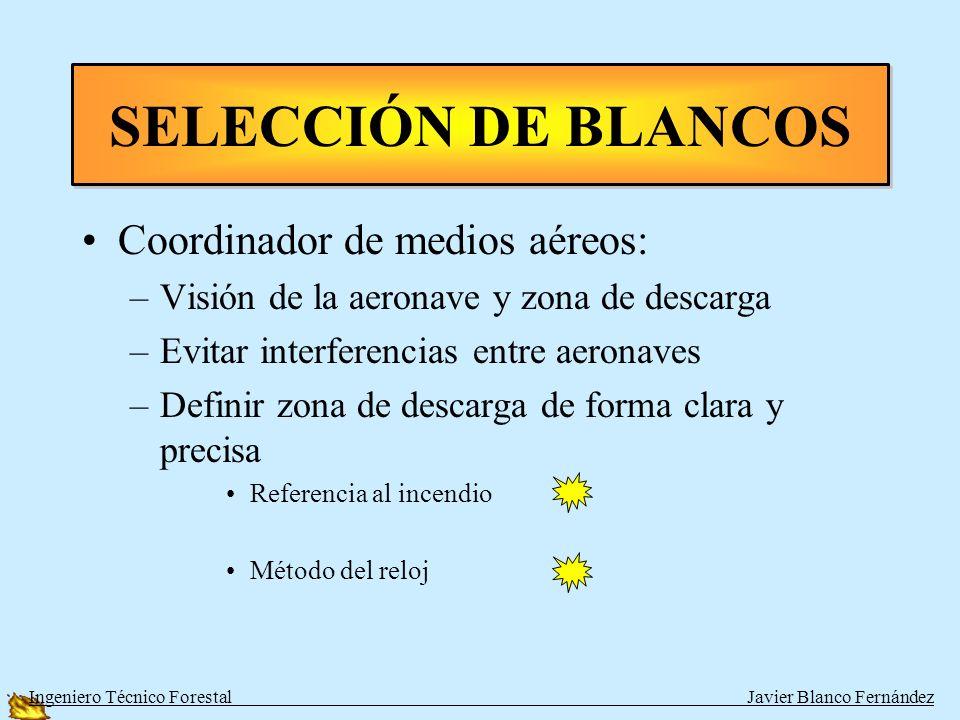 SELECCIÓN DE BLANCOS Coordinador de medios aéreos: