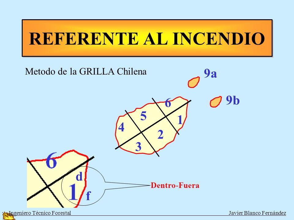 REFERENTE AL INCENDIO 9a 9b 6 5 1 4 2 3 d f